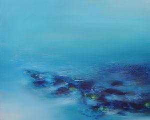 Turquiose tide 61 x 76cm oil on canvas.j