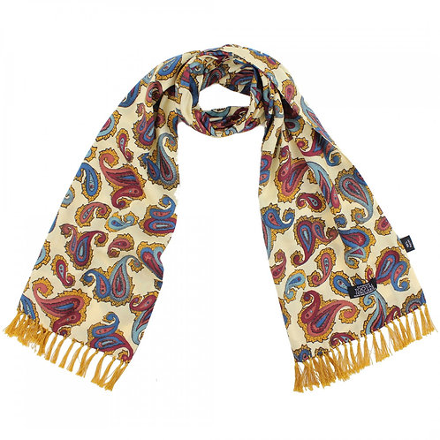 Tootal 100% Rayon Scarf - Oxblood/Teal