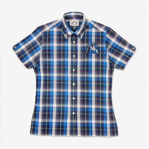 New Brutus Trimfit Blue Madras Check