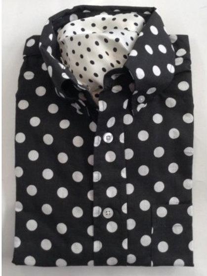 Sherrys Lightweight L/S Shirt Black/White Polka Dot