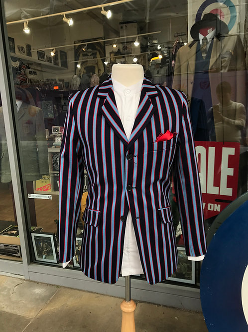 'Townshend' Boating Blazer, Navy, sky and red