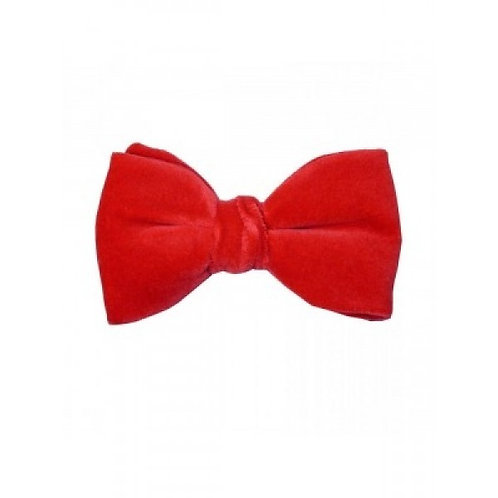 Red Velvet Pre-Tied Bow Tie from Hunt and Holditch