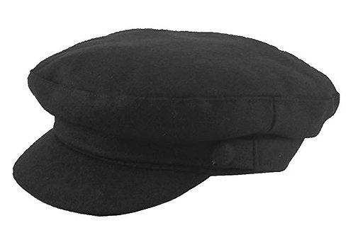Beatles Cap (Melton Wool) - Black