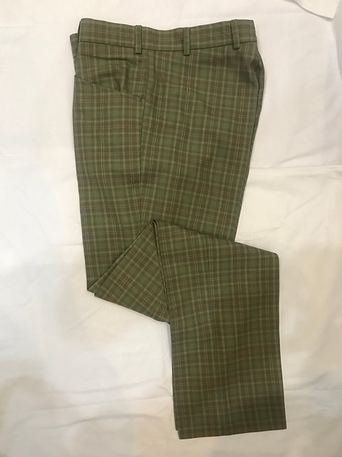 Sherry's 'Marriott' Green Check Trousers