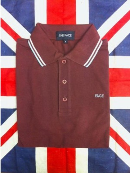Burgundy Face Polo