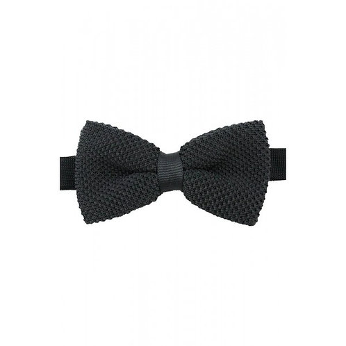 Knitted Black Luxury Bow Tie