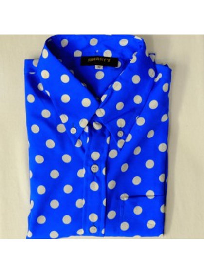 Sherrys Original Blue/White Polka Dot Shirt