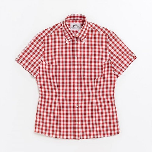 Brutus Trimfit LADIES s/s Gingham red check SHIRT
