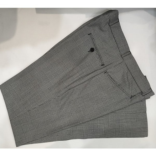 Black & White Prince Of Wales Tailored Trouser