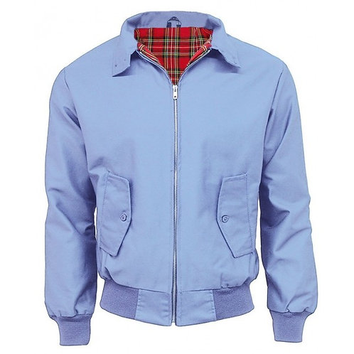 Classic Sky Blue Harrington Jacket