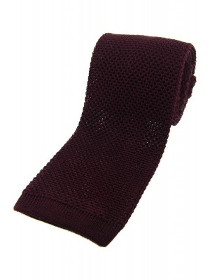 Wine Knitted Silk Tie