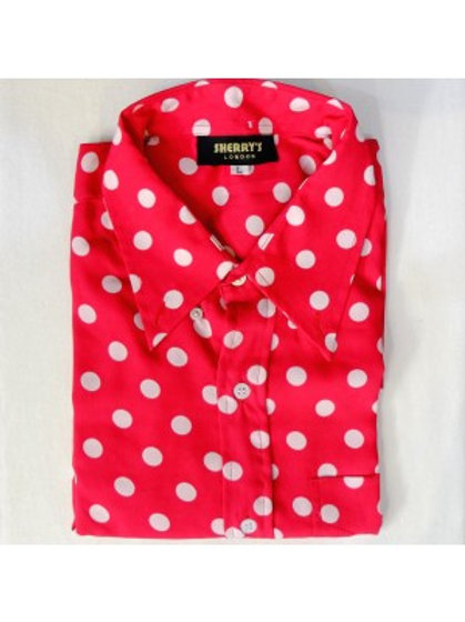 Sherrys Original Red/White Polka Dot Shirt