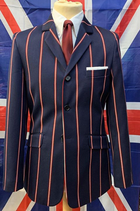 Boating Blazer Navy with Red and White Stripes