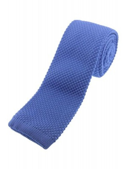 Light Blue Knitted Classic Tie