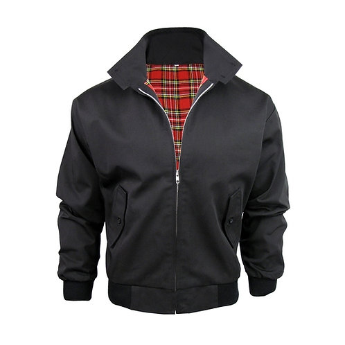 Classic Black Harrington Jacket