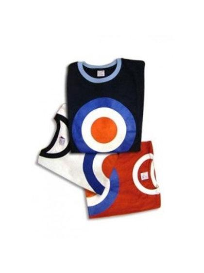 Classic Mod Target Ringer - Men's T-Shirt