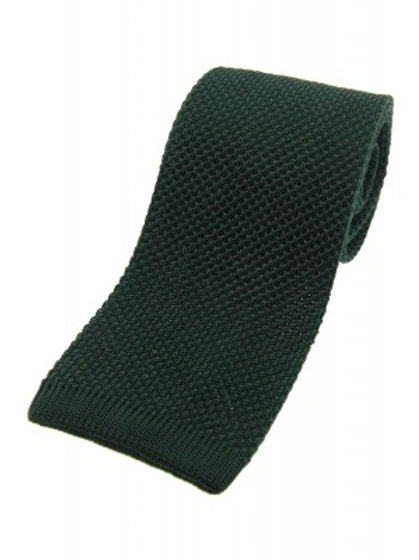 Green Knitted Silk Tie