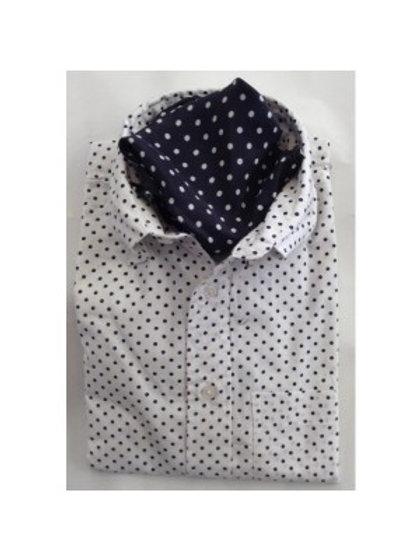 Sherrys Lightweight L/S Shirt - White/Black Polka Dot