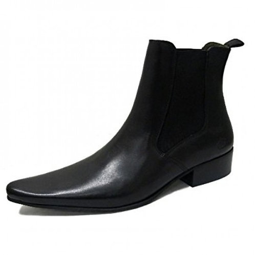 Revolver Half Cuban Heel Leather Boots