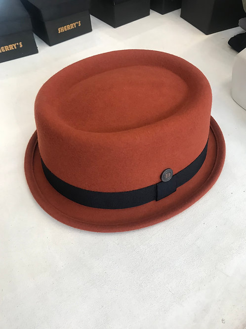 100% Wool SKA Pork Pie Hat - Burnt Orange