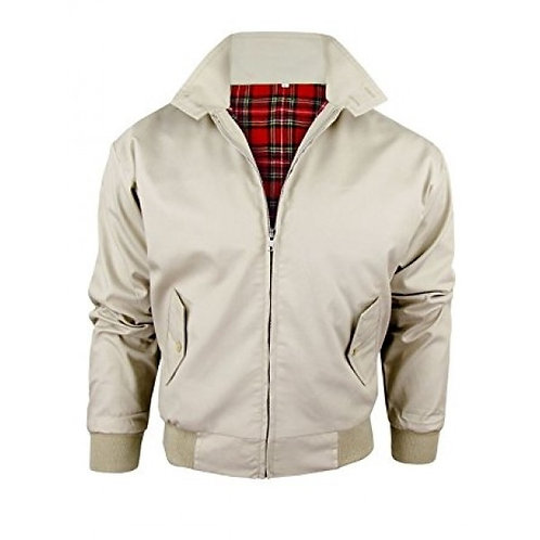 Classic Beige Harrington Jacket