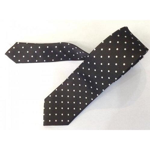 トゥータル織りシルクポルカドットタイバック