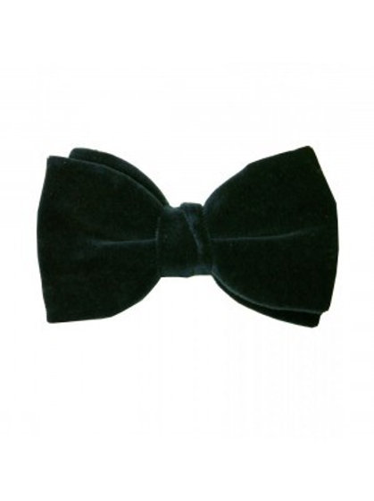 Black Velvet Pre-Tied Bow Tie from Hunt and Holditch
