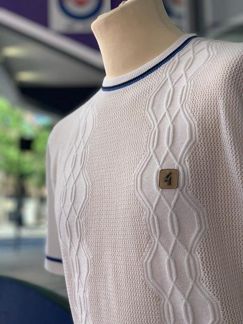 Gabicci 'Newman' knitted crew-neck  - white