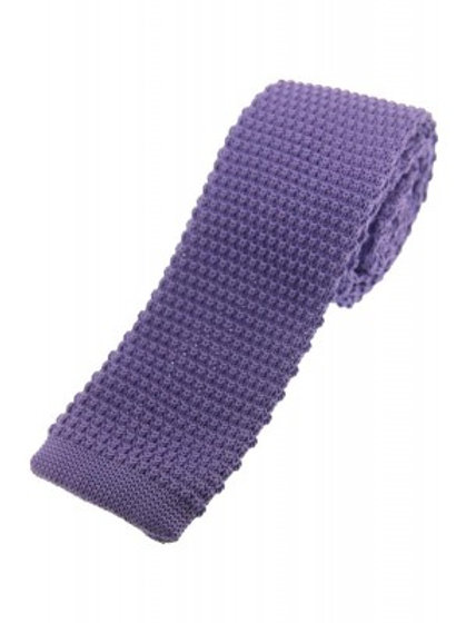 Lilac Knitted Classic Tie
