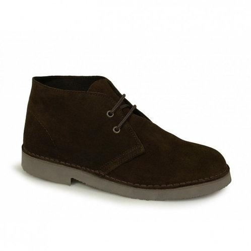 Roamers Dark Brown Suede Desert Boots