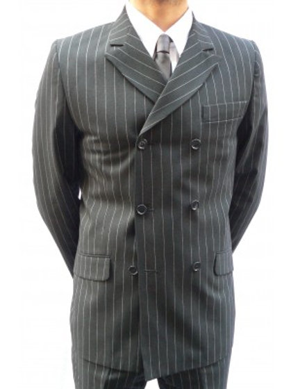 Sherry's Iconic Pinstripe Suit