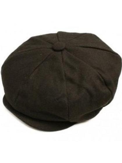 Classic Baker Boy Cap Wool Black