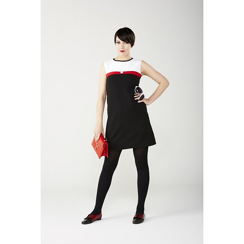 Sherry's 60's Vintage Black and White Dress