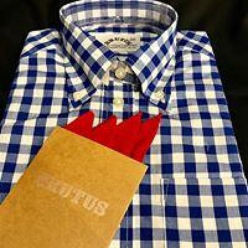 Brutus s/s Gingham Blue - LADIES Shirt