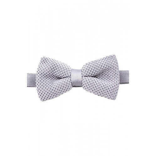 Knitted Silver Luxury Bow Tie