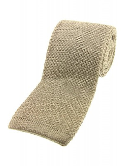 Stone Knitted Silk Tie