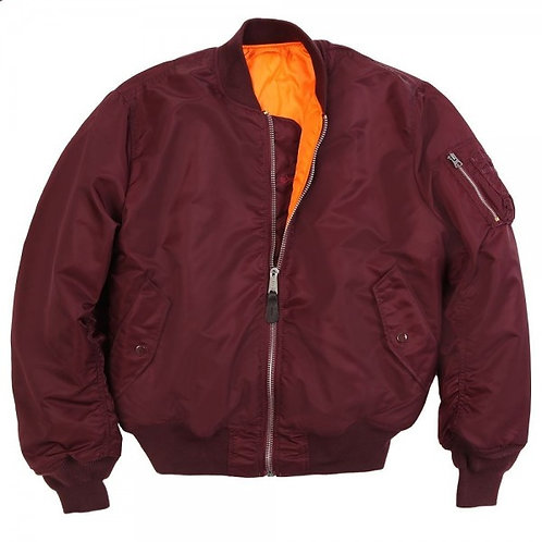Alpha MA1 Flight Jacket - Maroon