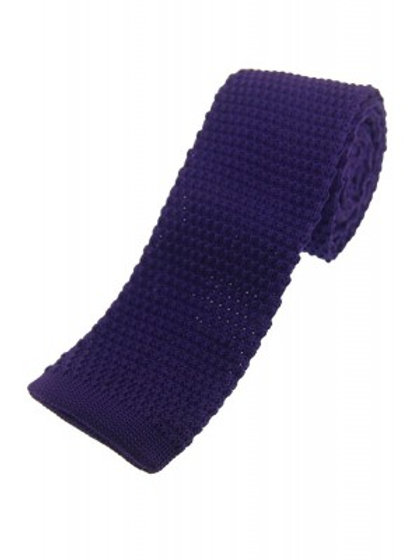 Purple Knitted Classic Tie