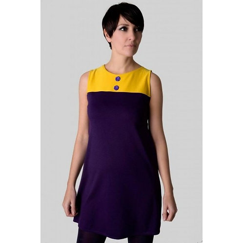 Sherry's 60's Vintage Yellow and Purple Dress