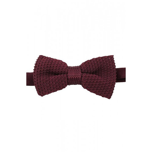 Knitted Wine Luxury Bow Tie