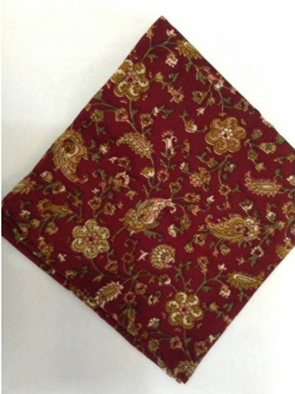 Sherrys Pure Silk Pocket Square Burgundy/Sand Paisley
