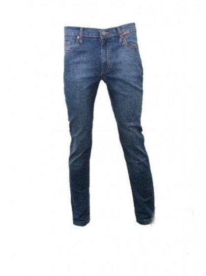 Skinny Fit Stonewash Denim Jean - Blue
