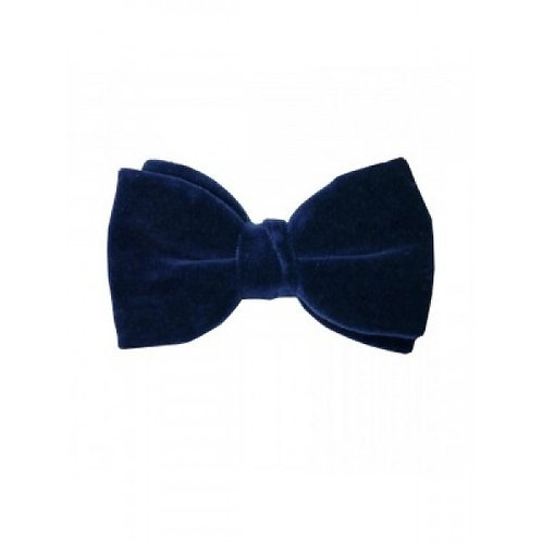 Navy Velvet Pre-Tied Bow Tie from Hunt and Holditch