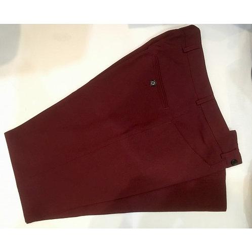 Burgundy Wool/Gaberdine Tailored Trousers