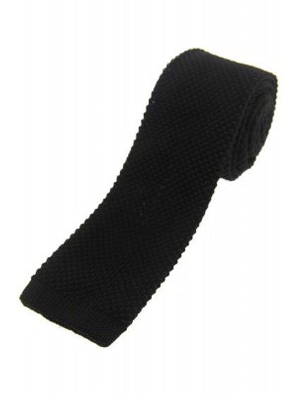 Black Knitted Classic Tie