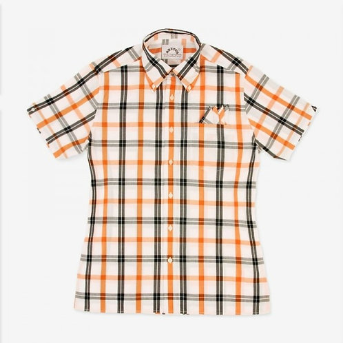 New Brutus Trimfit White/ Orange Check
