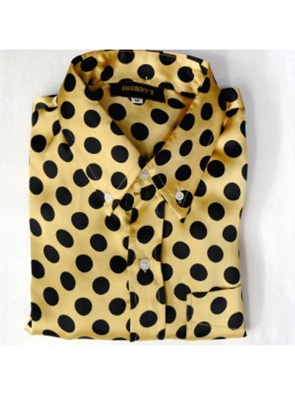Sherrys Original Gold/Black Polka Dot Shirt