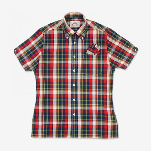 New Brutus Trimfit Red Madras Check Shirt.