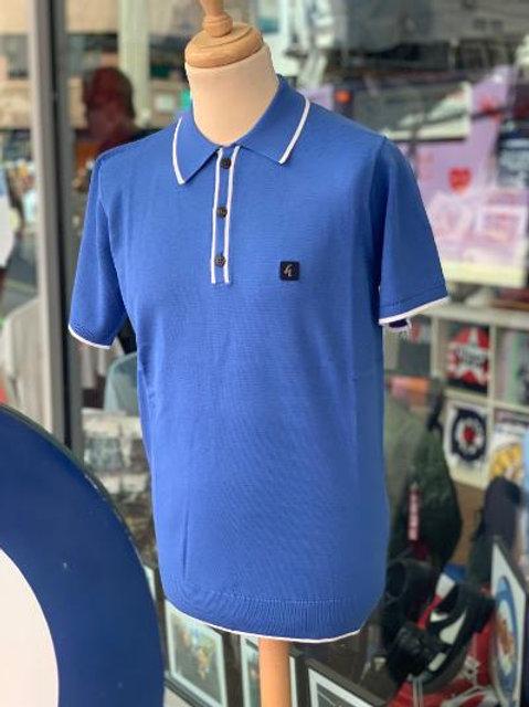 Gabicci 'Linekar' Polo Shirt - Carolina blue