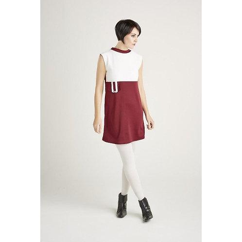 Sherry's 60's Vintage Tina Burg/White with pocket